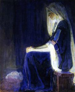 A painting of Mary by Henry Ossawa Tanner (1859-1937)