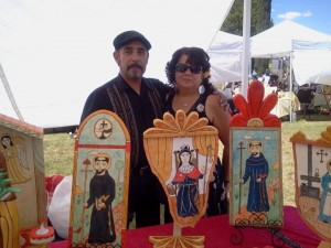 Margarito and Maria Mondragon Santero at the Franciscan Arts Festival, Holy Cross, NM