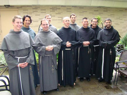 Friar Don Bassana Receives Habit On Entering Novitiate