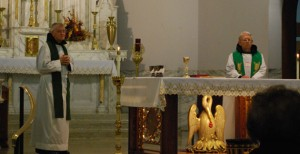 Fr. Ken Gering (left) and Fr. Simon Sauer (right)