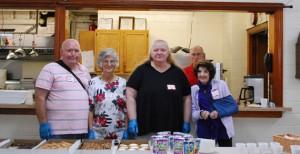 Parish volunteers served coffee, assorted pastries, and juice.
