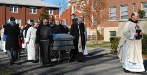 During the Procession to the Cemetery, the Litany of Franciscan Saints is chanted.
