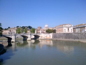 The Tiber River and the Dome of St. Peter's