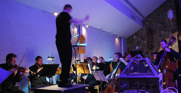 About 25 musicians from the Louisville Orchestra performed under the direction of Anthony Ransom.