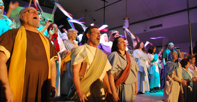 More than 100 parishioners participated in the production.