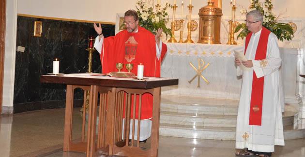 L to R: Friar Jerzy Norel,OFM Conv., Vicar General and Friar Jude Winkler, Assistant General CFC