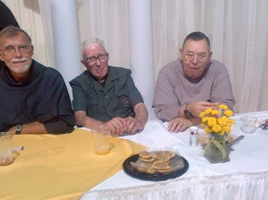 L to R: Fr. Tom Smith, OFM Conv. , Fr. Terence Tobin, OFM Conv., and Fr. Regis Schlagheck, OFM Conv.