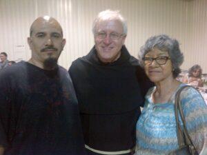 Fr. Tom Merrill, OFM Conv. in center
