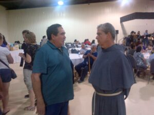 Fr. Phil Ley, OFM Conv., on right
