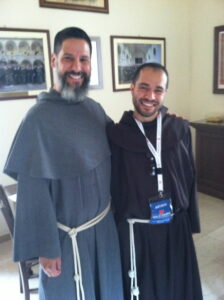 Friar Don on left meets Friar Alessandro