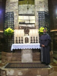 Br. Don at the tomb of St. Francis