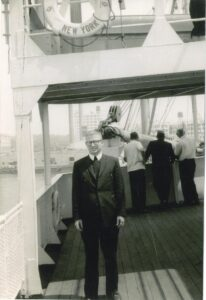 On July 4, 1958 Brother Joe began his trip to Zambia from New York harbor.