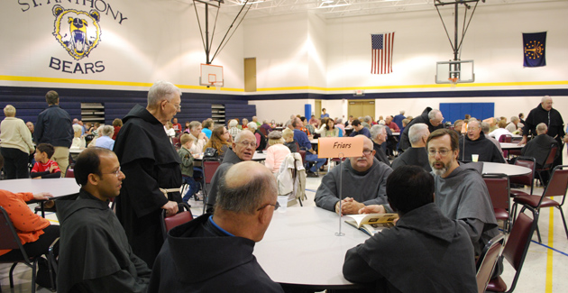 The Parish treated the Friars to a delicious pot-luck dinner