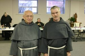 Fr. Berard with Br. Bob Baxter, OFM Conv. (on right) at the 2005 Chapter