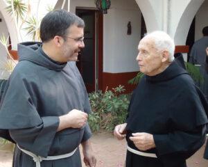 Fr. Berard with Fr. John Stowe, OFM Conv. (on left)