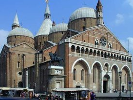 Basilica and Shrine of St. Anthony in Padua, Italy.