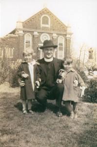 L to R: Thelma, Friar Fabian Keenan, Edgar Ellenbrand (circa 1927)