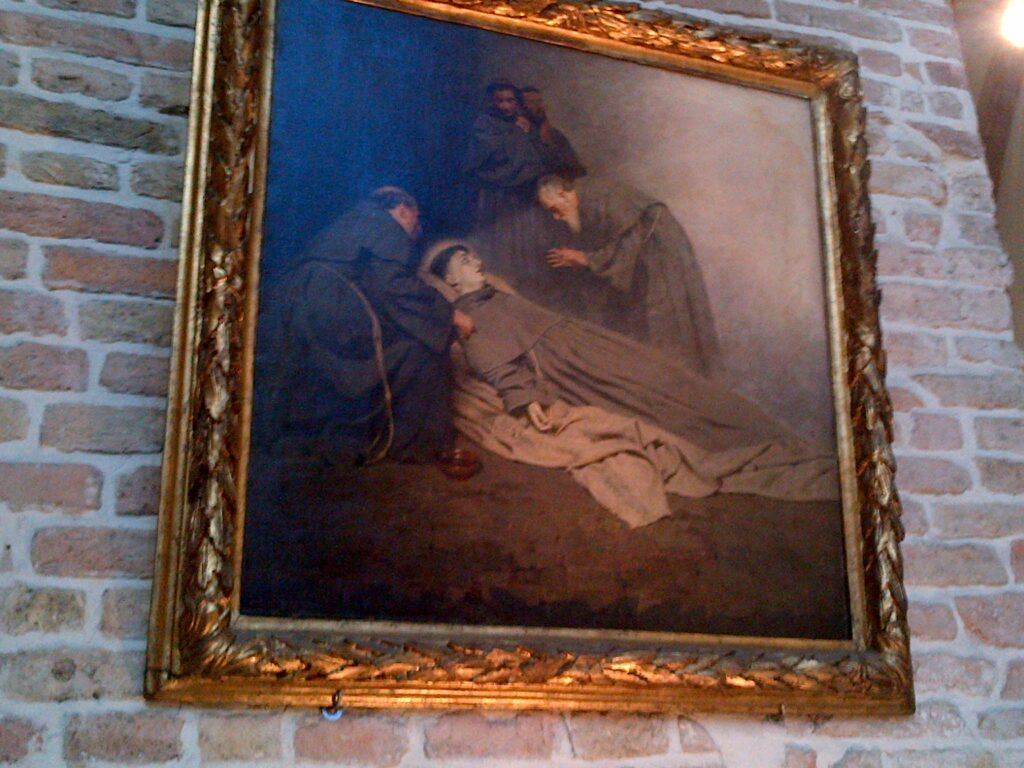 This painting depicts St. Anthony's death, near the place where he died in 1231.
