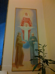 A painting in the retreat center