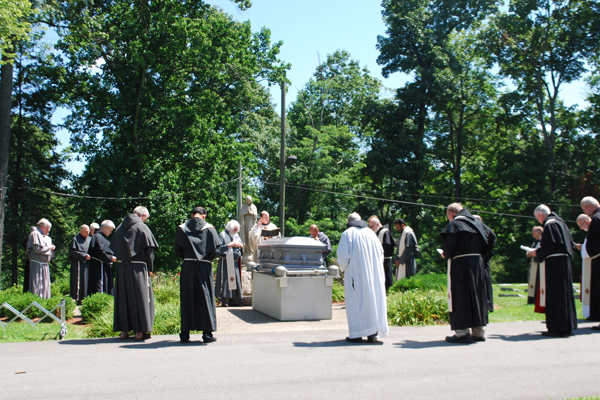 at the graveside