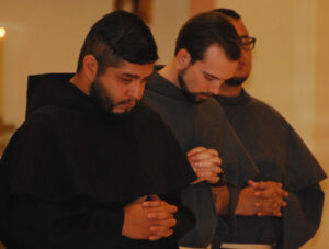 Friars Tony and Andrew professed First Vows in July.