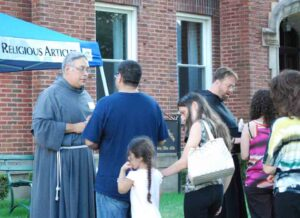 Friars will be offering blessings and the sacrament of confession throughout the day on August 14 and 15.
