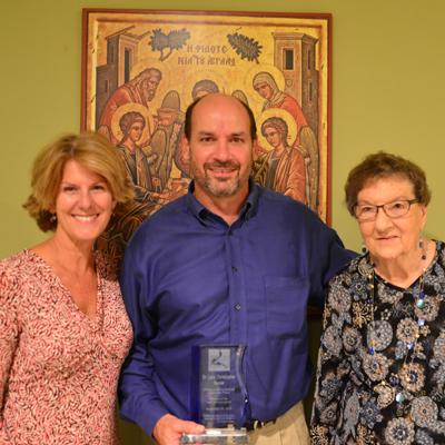 l to r: Dr. Toni Sartini (honorary member since 2014), Dr. Chris Nunier, Kate Carrico (honorary member since 1979)