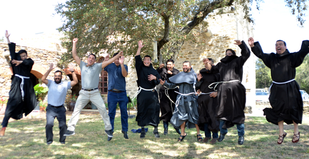 Photo by Friar Tony Martinez: Franciscans from the three branches of the First Order celebrated the Feast of St. Francis of Assisi.