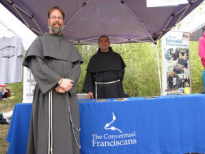 Vocation Directors Friar John Bamman and Friar Andy Martinez at Abbey Youth Fest in Louisiana.