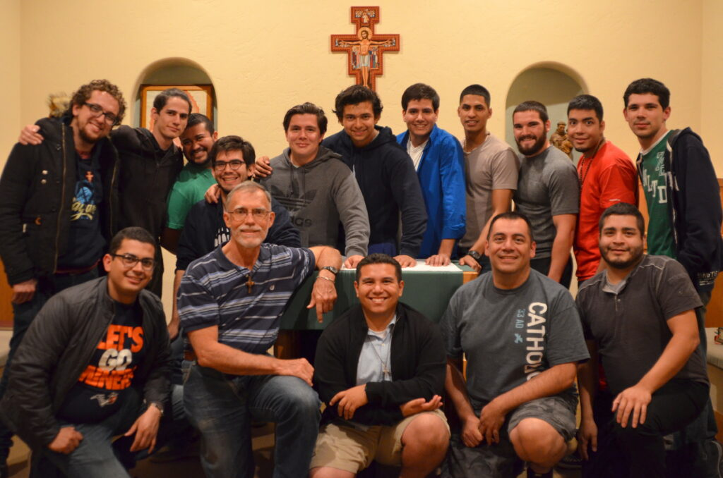 A great turnout for the Vocation Discernment Weekend at Holy Cross Retreat Center in Mesilla Park, NM