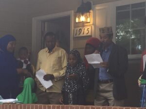 """A Muslim family of ten from Somalia were grateful to move into the """"Wake Up World"""" house in Louisville."""