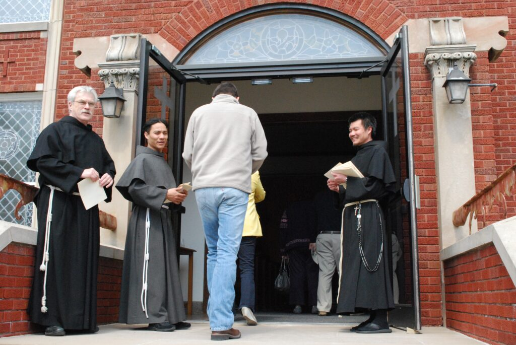 "The Friars welcome you at their parishes and retreat centers. As Fr. Christian Moore says, ""For us Franciscans, it's not just the Year of Mercy - our Franciscan charism doesn't stress sinfulness. It stresses that people are loved by God, they're part of a family no matter what. They're part of the life of the Church as long as they want to be."""