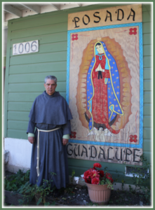 Fr. Phil Ley stands outside of Posada Guadalupe