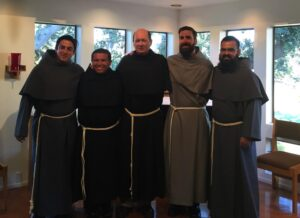 l to r: Calin, Alberto, Fr. Jim, Adam, and Pedro