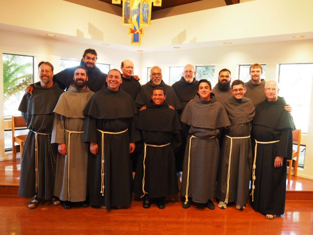 The OLC friars gathered at Arroyo Grande for the Profession and Investiture.