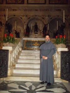 Br. Don at the tomb of St. Anthony