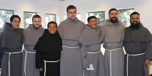 The seven men who entered novitiate.