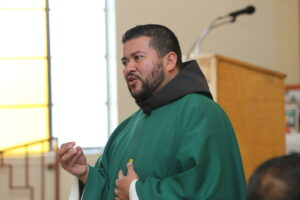 Fr. Mario preaches at his Mass of Thanksgiving in Dexter, NM