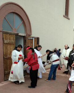 Members of the Tigua community offered a traditional blessing before the ordination.