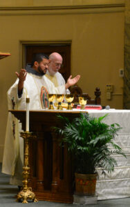 Fr. Mario Serrano, OFM Conv. on left with Fr. Dismas Veeneman, OFM Conv.