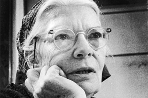 Dorothy Day (1897-1980) converted to Catholicism. She worked closely with fellow activist Peter Maurin to establish the Catholic Worker Movement. She was arrested several times for civil disobedience while advocating for the poor via nonviolent protest.