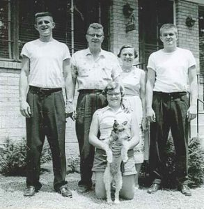 Fr. Joel Burget as a young man with his family.