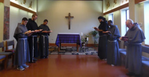Morning prayer at San Damiano Friary in San Antonio, Texas.
